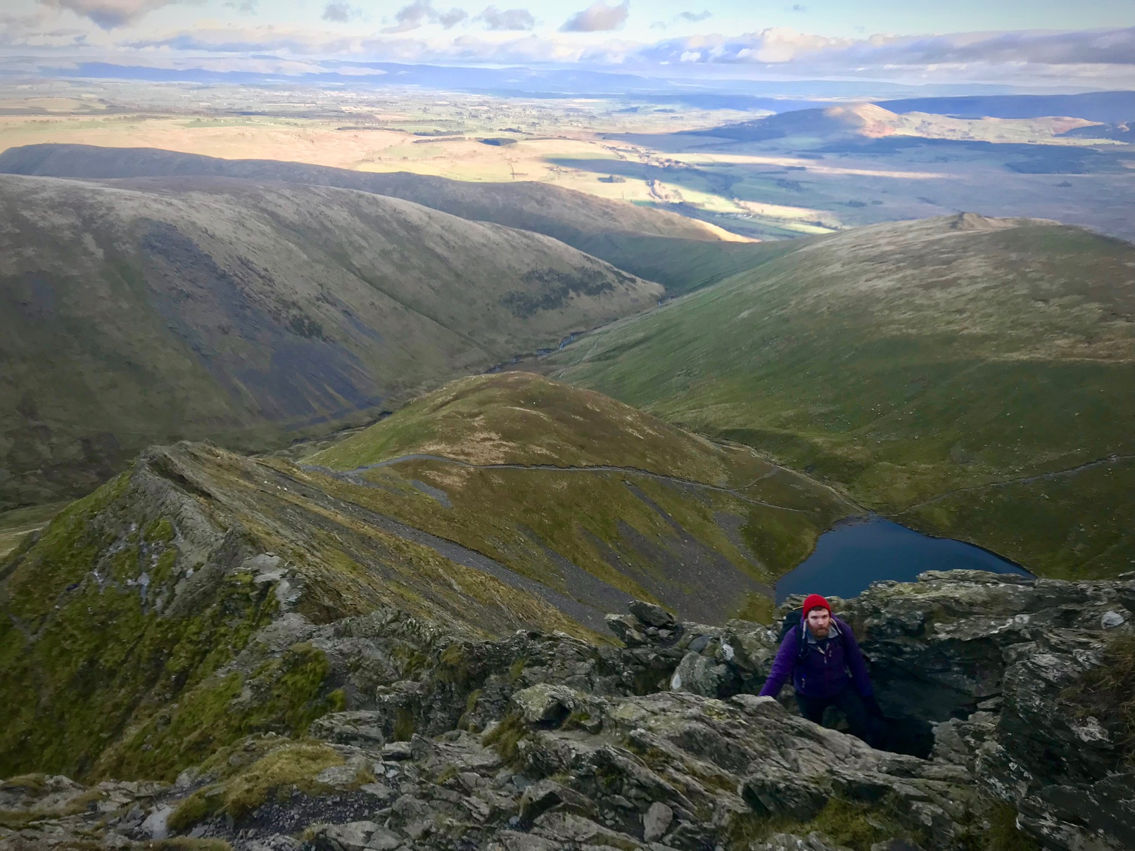 Me from above, on Sharp Edge