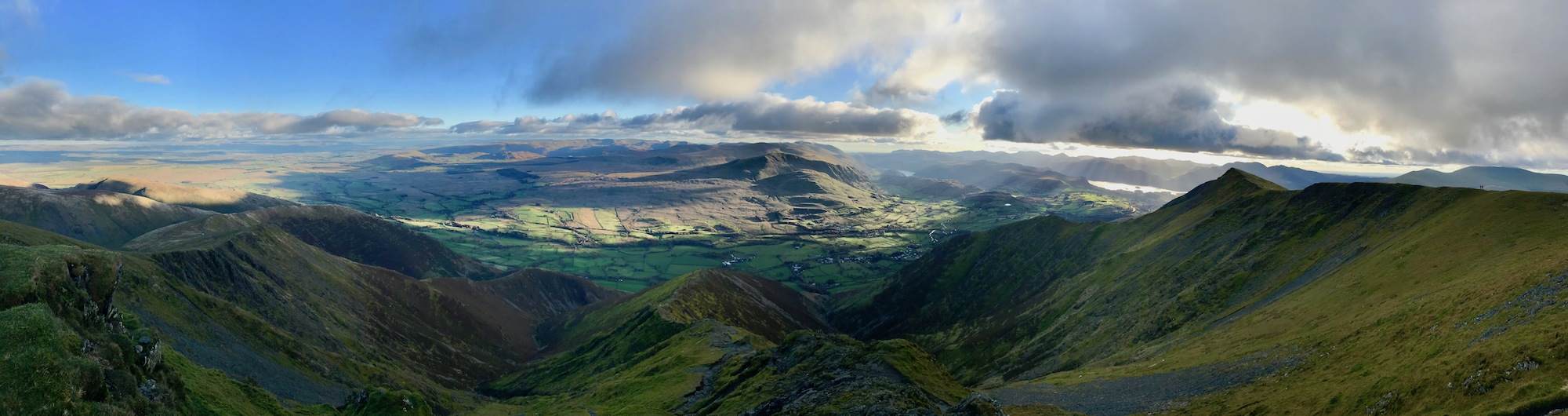 Views down the southern slopes of Blencathra